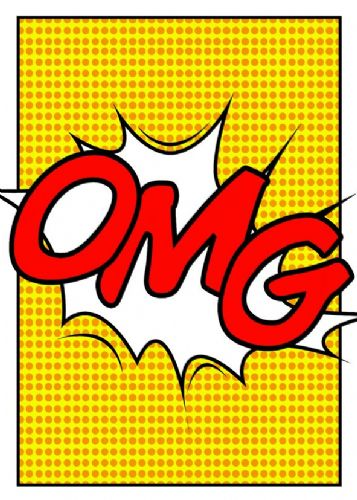 ART - POP ART - OMG YELLOW canvas print - self adhesive poster - photo print